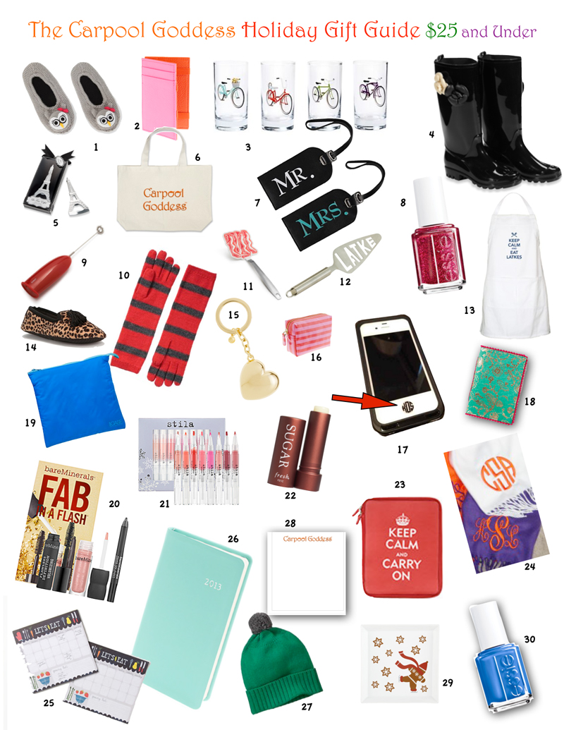 Holiday Gift Guide $25 and Under