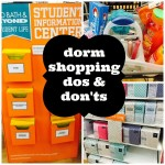 Dorm Shopping Dos and Don'ts